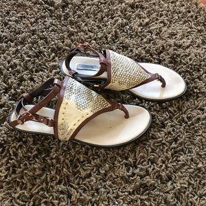 Bcbg maxaria brown Bahari snakeskin sandals